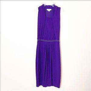Max Mara : square neck purple dress in size 38